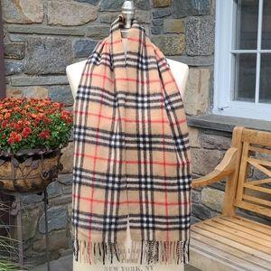 Burberry Cashmere  vintage  nova check scarf